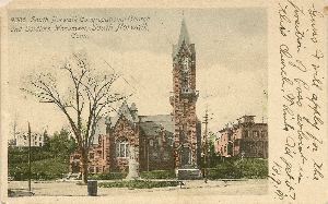 1905 Postcard South Norwalk Congregational Church